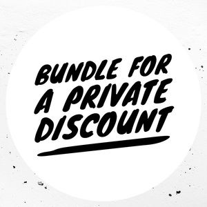 Bundle for a private discount and save on shipping